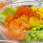 easy poke bowl with ingredients and alchemy fibre