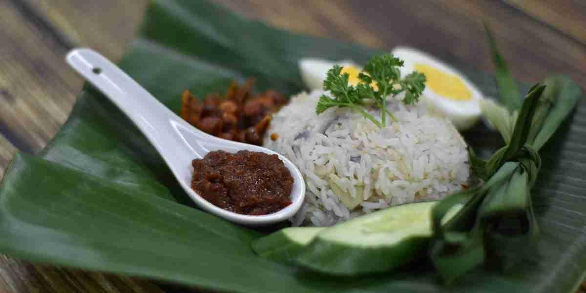 nasi lemak with alchemy fibre and sambal chili