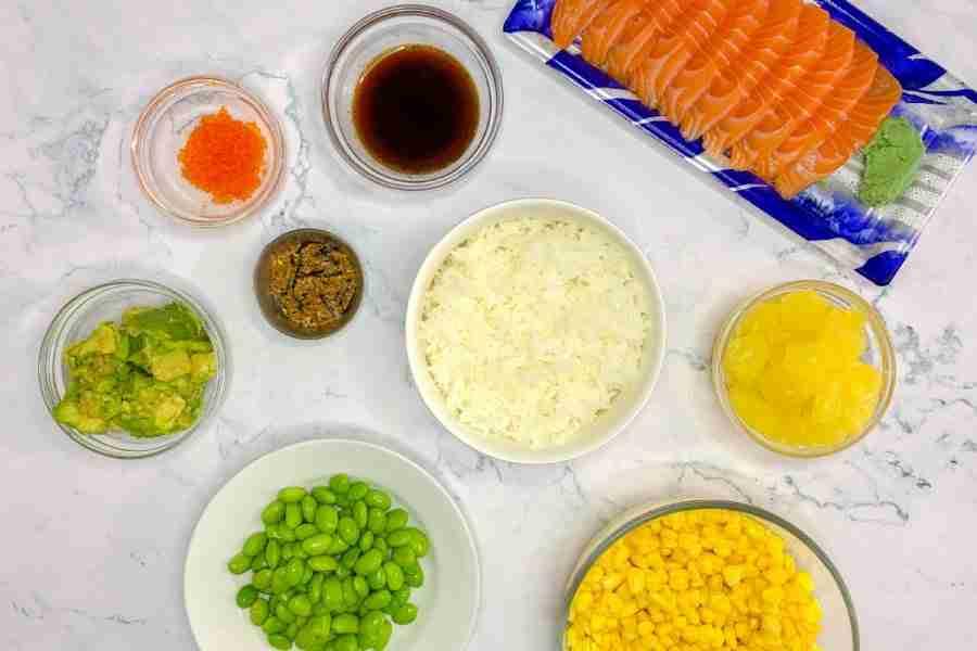 Easy poké bowl ingredients