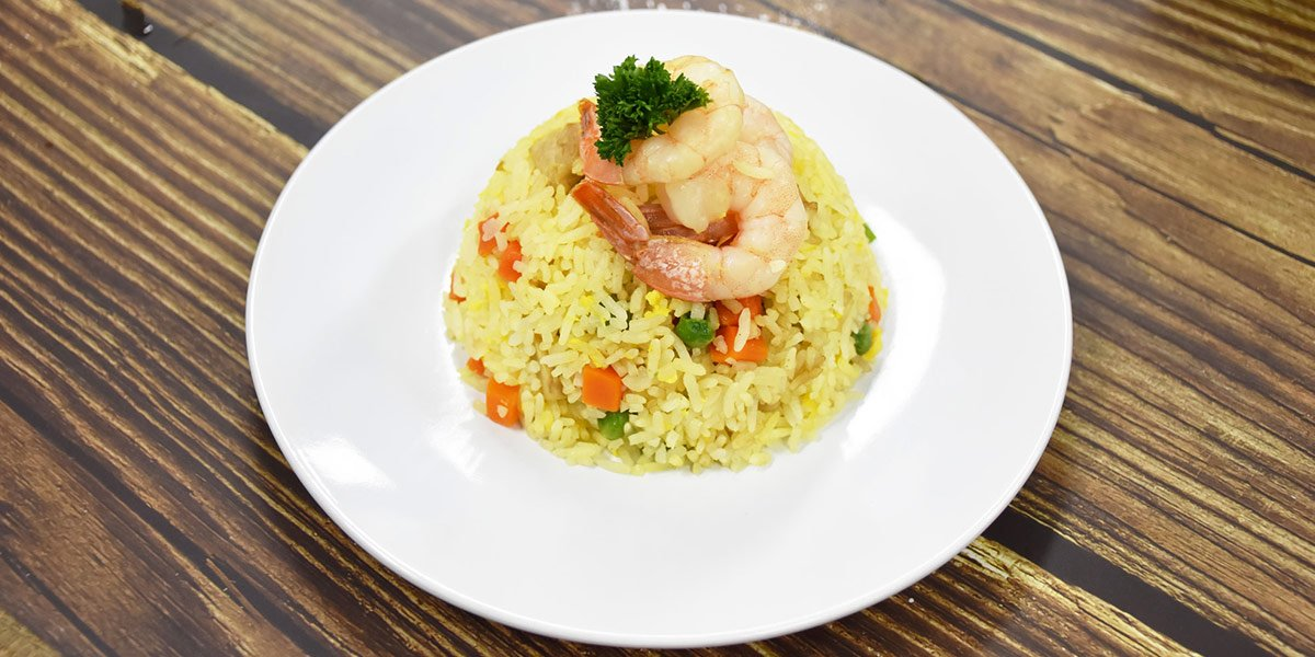 yang zhou fried rice with prawn and alchemy fibre