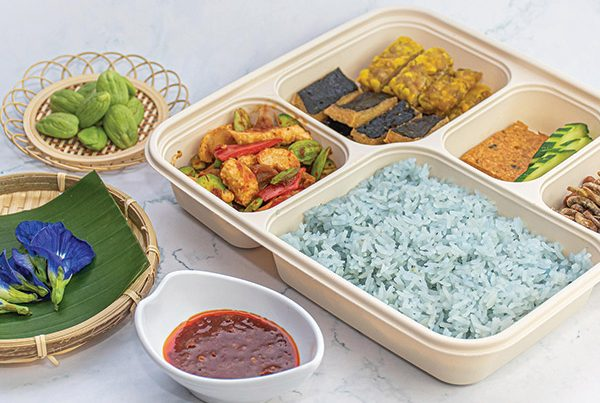 lotus blue pea rice