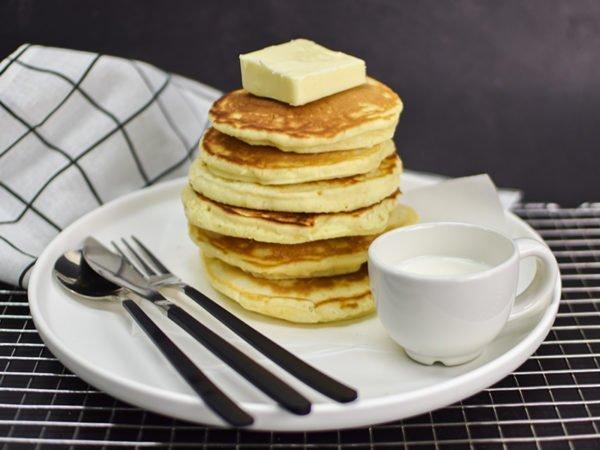 Alchemy Premix Pancakes stacked
