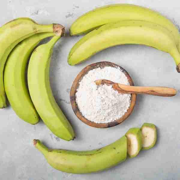 green banana and fibre powder