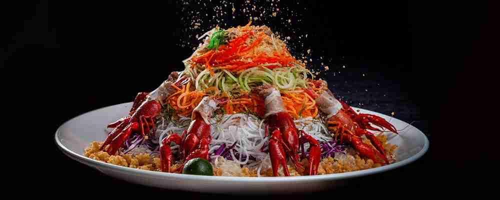 chinese new year dish yu sheng