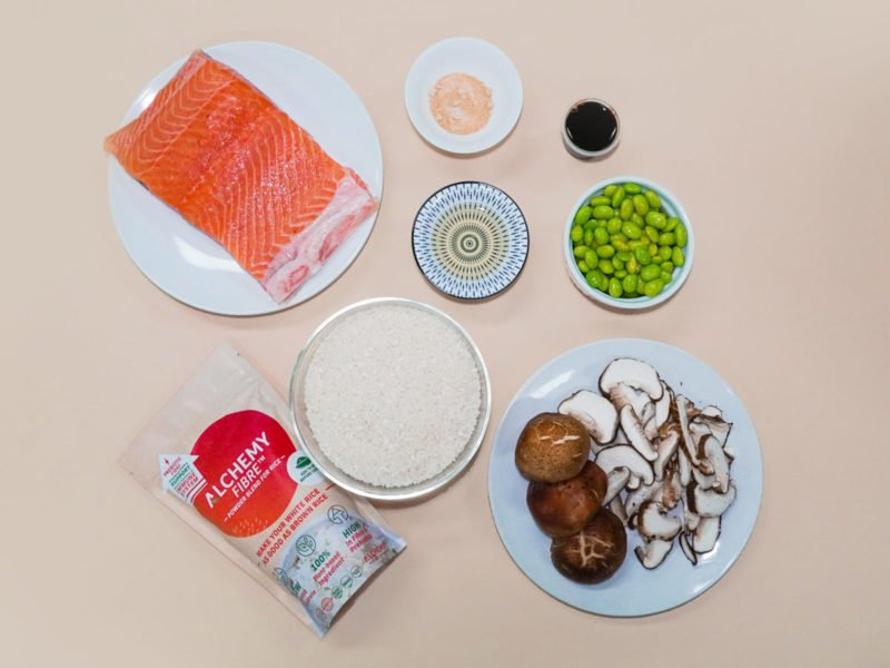 Salmon One Pot Rice Ingredient