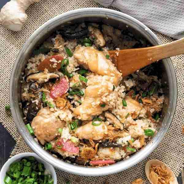 chicken and mushroom rice