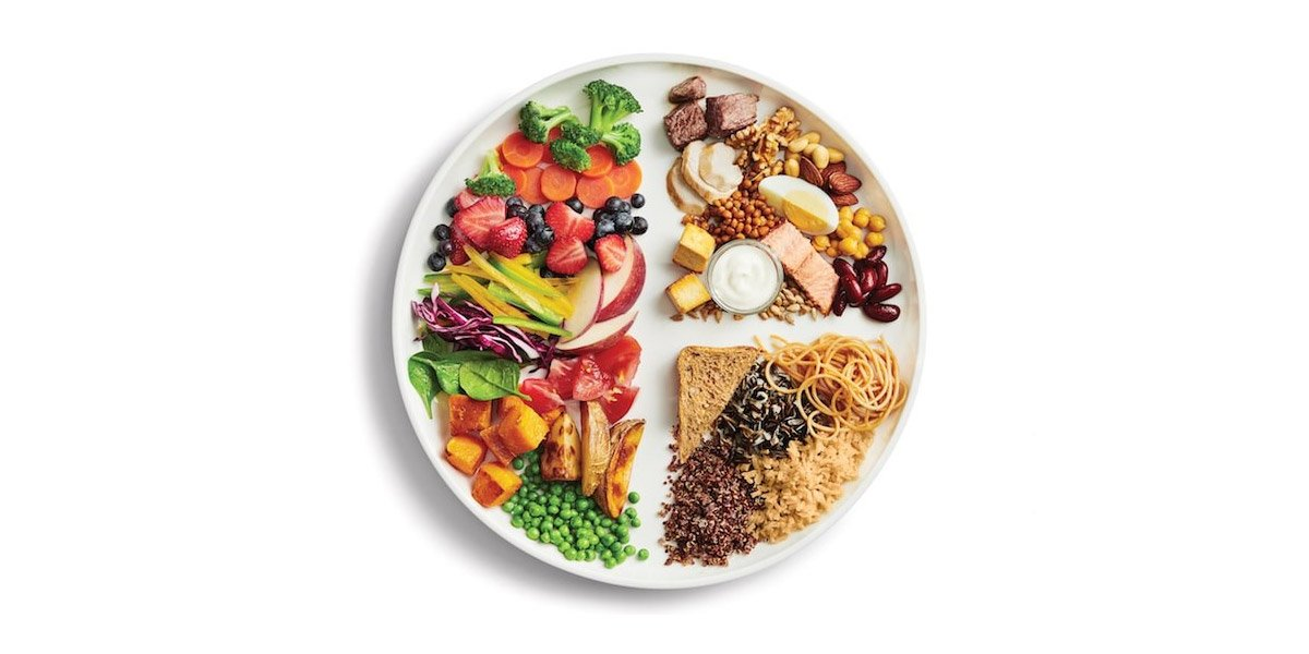 carbs and vegetables portion