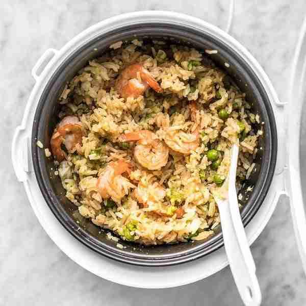 rice cooker teriyaki shrimp rice