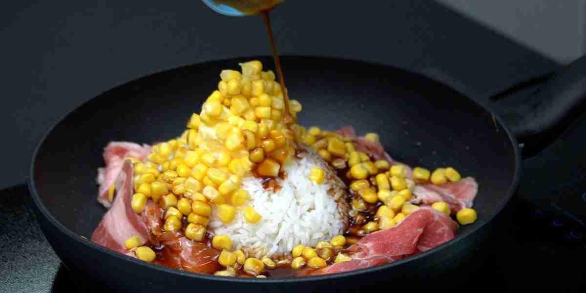 corn and yakiniku sauce