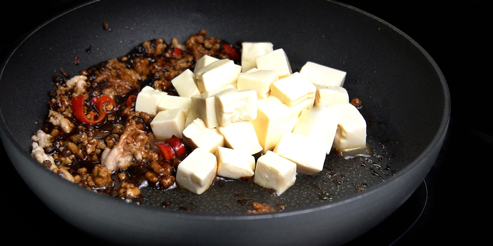 tofu and minced pork