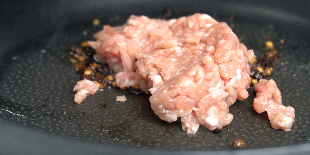 cooking minced pork
